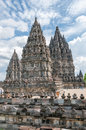 Prambanan temples hindu in central java Royalty Free Stock Photos