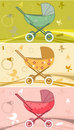 Prams for  baby Royalty Free Stock Images