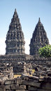 Pranbanang temples site on java island in indonesia similar to cambodia style Royalty Free Stock Image