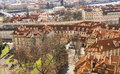 Praque cityscape of prague city skyline Royalty Free Stock Photography