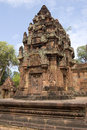 Prasat at Banteay Srei Temple, Angkor, Cambodia Royalty Free Stock Image