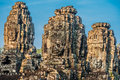 Prasat bayon temple angkor thom cambodia at Royalty Free Stock Photography