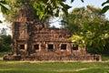 Prasat Ta Muang au coucher du soleil Images stock