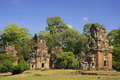 Prasats Suor Prat, Angkor Thom, Angkor area Royalty Free Stock Photos