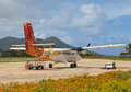 Praslin may air seychelles plane praslin airport may seychelles air seychelles operates domestic flights week throughout Stock Photos