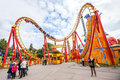 Prater Amusement Park in Vienna, Austria. Royalty Free Stock Photo