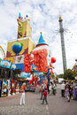Prater amusement park in vienna austria vertical photo september large public Stock Photo