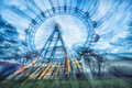 Prater attraction in motions blur Royalty Free Stock Images