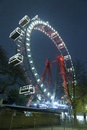 Prater attraction in wien vienna at night time Stock Images