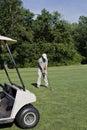 Prawdziwy golfiarz Zdjęcia Royalty Free