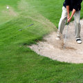 Prawdziwy golfiarz działania Obrazy Royalty Free