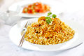 Prawn biryani indian or jinga Royalty Free Stock Images