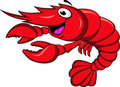 Prawn cartoon Stock Photo
