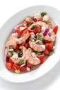 Prawn ceviche seafood marinated salad Stock Photography