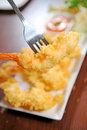 Prawn fried Royalty Free Stock Images