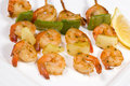 Prawn kebabs Royalty Free Stock Photography