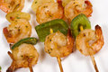 Prawn kebabs Stock Photography
