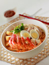 Prawn noodles Stock Photography