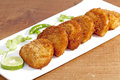 Prawn Rissoles is a delicious & mouth watering appetizer from Goa, India Royalty Free Stock Photo