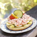 Prawn Sandwich Stock Photo