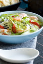 Prawn sweet sour soup Stock Image