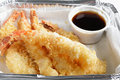 Prawn tempura fast food Royalty Free Stock Photography