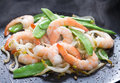 Prawn and vegetable Royalty Free Stock Photo