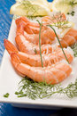 Prawns appetizer Royalty Free Stock Images