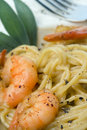 Prawns and Pasta series Royalty Free Stock Photography
