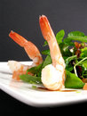 Prawns salad Royalty Free Stock Image