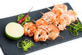Prawns yakitori Royalty Free Stock Photo