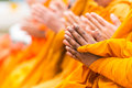 Pray for faith in buddhism Stock Photography