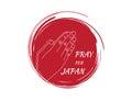 Pray for japan flag , pray for japan