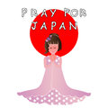 Pray for japan help and vector Royalty Free Stock Images