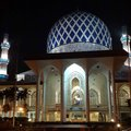 Pray masjid shah alam selangor malaysia one of earliest modern mosque in malaysia Royalty Free Stock Photography