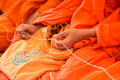 Pray the monks in thai ceremony and religious rituals Royalty Free Stock Images