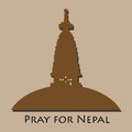 Pray for nepal disaster earthquake Royalty Free Stock Photography