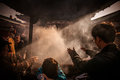 Pray at sensoji temple buddhists gather around a fire to light incense and Stock Images