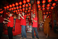Pray at the temple chinese residents in city of solo central java indonesia perform prayer tien kok sie Stock Photos