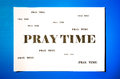 Pray time print on paper in big and small text Stock Images