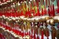 Prayer bells in Hong Kong Royalty Free Stock Photo