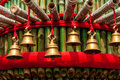 Prayer bells in a temple Royalty Free Stock Photo