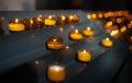 Prayer Candles at Church Royalty Free Stock Photo