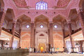 Prayer court of putra jaya mosque view the interior the malaysia Royalty Free Stock Photo