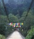 Prayer Flags Across A Bridge, ...