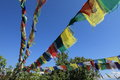 Prayer flags in pokhara nepal Royalty Free Stock Images