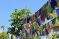 Prayer flags in pokhara nepal Royalty Free Stock Photo
