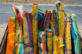Prayer flags for sell in Tibet Stock Image