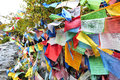 Prayer flags is a special culture in china Stock Photo