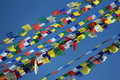 Prayer flags at the Stupa of Boudhanath Royalty Free Stock Photo